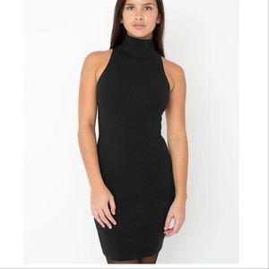 American Apparel black turtle neck body con dress